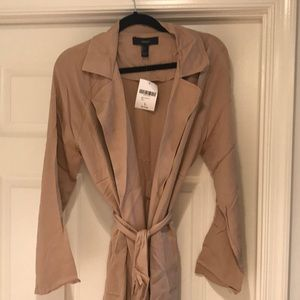 Open front duster jacket. Tan. New with Tags!
